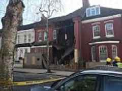Terraced house in millionaire's row COLLAPSES