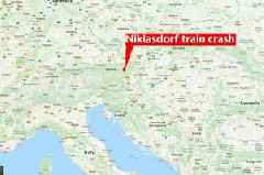 Two passenger trains crash in Austria - leaving at least one dead