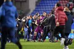 Manchester City star Sergio Aguero clashes with fan after Wigan Athletic's shock FA Cup win