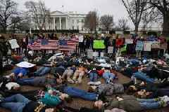 Teenagers Stage 'Die-in' Outside White House To Protest Gun Violence After School Shooting