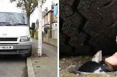 Extreme new device that punctures car tyres will 'end selfish pavement parking once and for all'