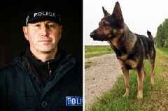 Heroic police officer and his dog 'shot with air gun' as they tackle attempted murder suspect