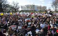 Students Across U.S. Stage Walkouts To Protest Gun Violence One Month After Parkland