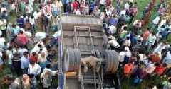 14 killed, 41 injured in a bus accident in Sitamarhi district of Bihar