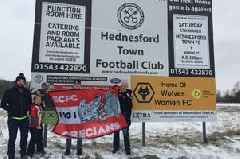 These intrepid Exeter City fans battled the snow for their Premier League Cup game against Wolves - only for it to be postponed