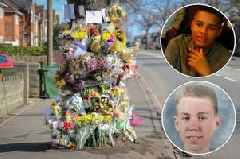 Walsall crash scene a sea of colour as friends mourn tragic teens Alex Lees and Tarik Campbell one week on