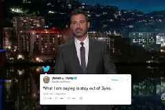 Jimmy Kimmel Uses Old Trump Tweets to Argue Against Trump's Newfound Desire to Bomb Syria