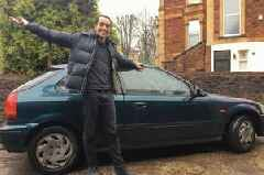 This man bought a car to get to Bristol because it was cheaper than a train ticket