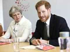 Prince Harry joins Theresa May for the opening of the Commonwealth Youth Forum