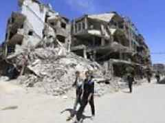 Russia and Syria block chemical weapons inspectors team from accessing site of Douma gas attack