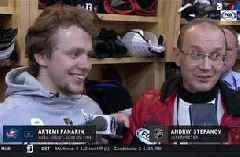 Artemi Panarin thanks fans, vows to 'make things better' next time