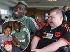 Manchester United stars Paul Pogba, Alexis Sanchez and David De Gea host youngsters for dream day