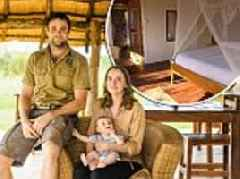 Ex-army officer and his heavily pregnant wife swap Swindon for the African Savannah