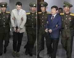 Release of 3 detainees in NKorea sealed at last minute