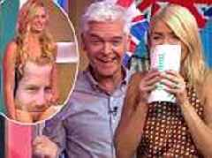 Holly Willoughby giggles at Prince Harry and Meghan Markle swimsuits