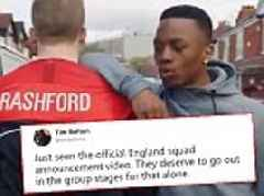 Fans react to 'cringeworthy' and 'embarrassing' video announcement of England's World Cup squad