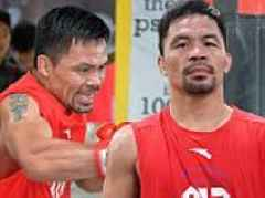 Manny Pacquiao enters training camp ahead of world title fight with Lucas Matthysse