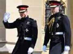 Prince Harry arrives with Prince William to his Royal Wedding