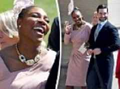 Serena Williams and Alexis Ohanian arrive at the royal wedding