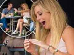 Prince Harry's ex Chelsy Davy toys with a ring during giddy lunch with beau James Marshall