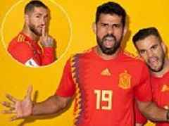 Sergio Ramos and Spain team-mates pose for amusing World Cup portraits
