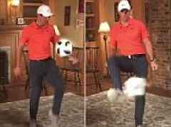 Rory McIlroy gets in World Cup spirit ahead of US Open with keepy-ups