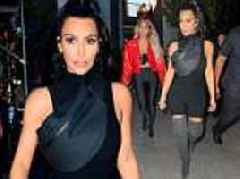 Kim Kardashian stuns for Kanye West's listening party in Queens