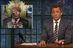 Seth Meyers Calls Trump 'President Wile E Coyote': 'He's Blown Himself Up a Thousand Times but Somehow He Keeps Walking Away'