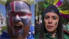 Battle of the football fans: Iceland v Mexico