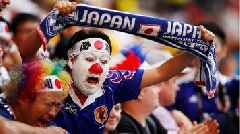 Japan fans tidy up after opening World Cup match