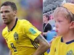Sweden star Marcus Berg's four-year-old son in tears as he watches his dad make World Cup debut: