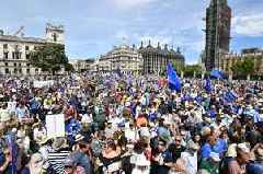 Thousands of EU supporters march in London to call for final Brexit deal vote