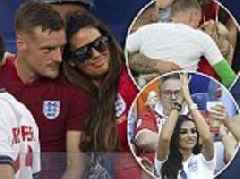 Rebekah Vardy and fellow WAGS can't contain their glee after England win