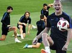 Croatia stars are put through their paces ahead of World Cup semi-final clash against England
