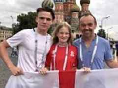 England's Red Square invasion: 10,000 Three Lions supporters begin flooding into Moscow