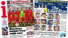 Newspaper headlines: 'England expects' and UK to fine Facebook