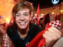 Scenes of euphoria break out in Zagreb after Croatia beat England to make World Cup final