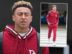 Jesse Lingard touches down at LAX airport in maroon tracksuit as he enjoys post-World Cup holiday