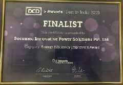 Socomec India Lauded for 'Energy Efficiency' at DCD Best in India Awards 2018