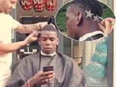 Paul Pogba unveils two-gold-star haircut in homage to France's World Cup win