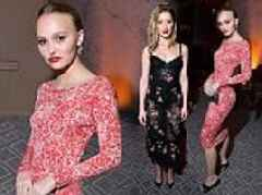 Lily-Rose Depp joins ex-stepmother Amber Heard at HFPA and InStyle's glitzy bash during TIFF