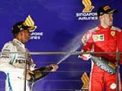 Rocketing to the title... there are fireworks for Lewis Hamilton