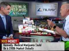 Canadian cannabis producer Tilray is going bananas after its CEO appeared on Cramer's 'Mad Money' (TLRY)