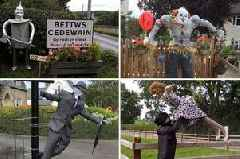 The villages that have the best scarecrows you've ever seen