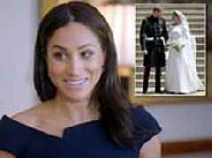 Meghan Markle reveals the 'fun surprise' she included for Prince Harry on her wedding veil