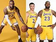 Lebron poses with LA Lakers squad and claims they have 'long way to go' to challenge Golden State
