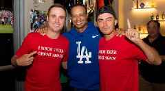 Rickie Fowler, Justin Thomas Don 'I Made Tiger Great Again' Shirts in Celebration With Tiger Woods