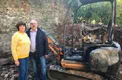 Retired police officer's home 'hit by petrol bombs'