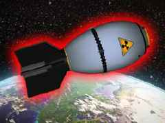 What if the most powerful nuclear bomb exploded in space