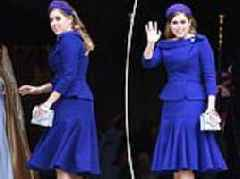 Princess Beatrice looks chic as she arrives at sister Princess Eugenie's royal wedding